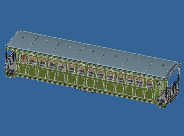 Z Gauge 1:220 4 Achs Wuertemberg 1 - 2 .classe 1x 3d printed Add a caption...