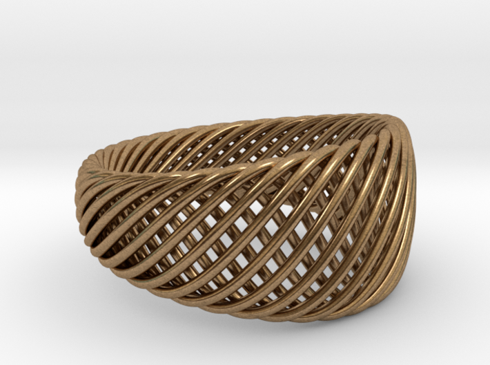 Twisted Ring - Size 10 3d printed