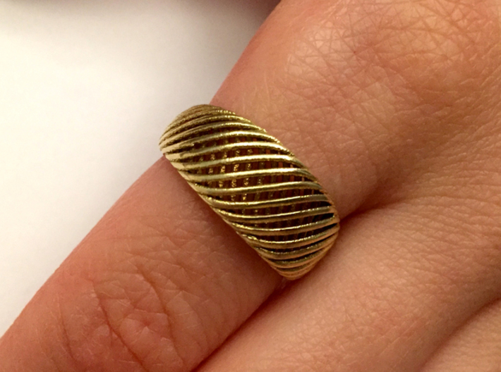Twisted Ring - Size 8 3d printed