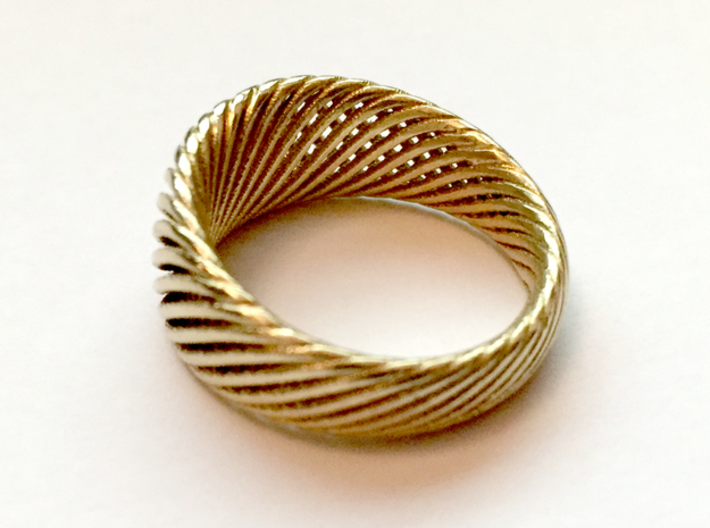 Twisted Ring - Size 9 3d printed