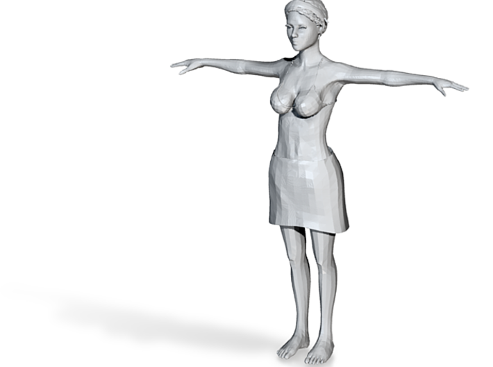 A girl 3d printed