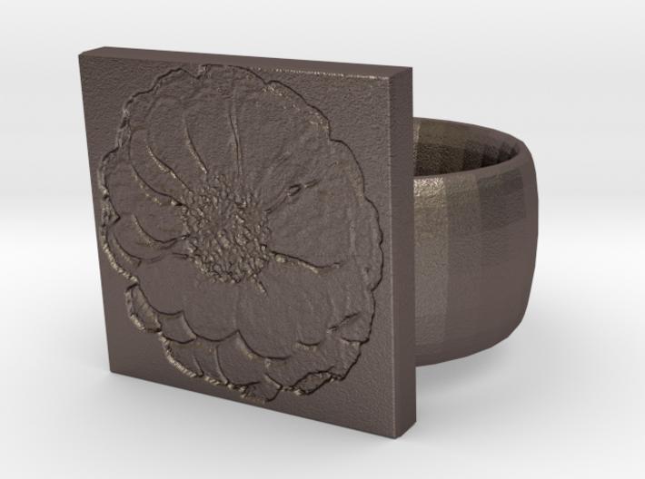 Camelia Ring 3d printed