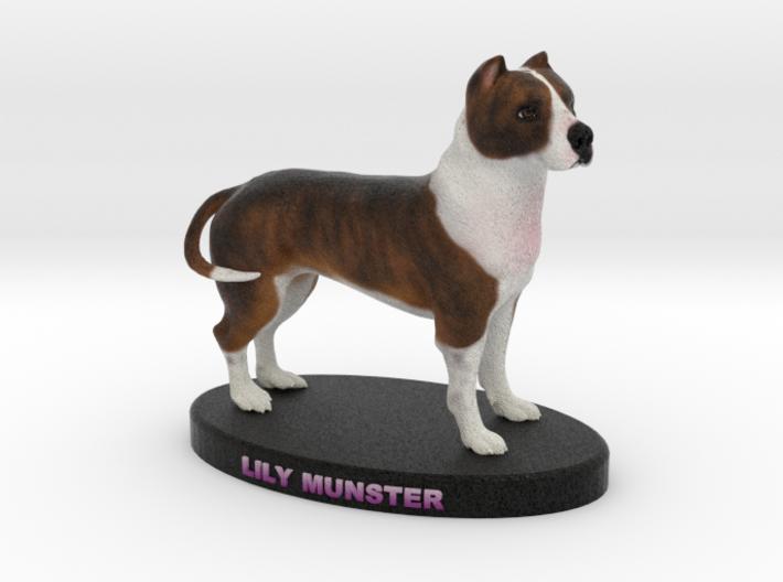 Custom Dog Figurine - Lily Munster 3d printed