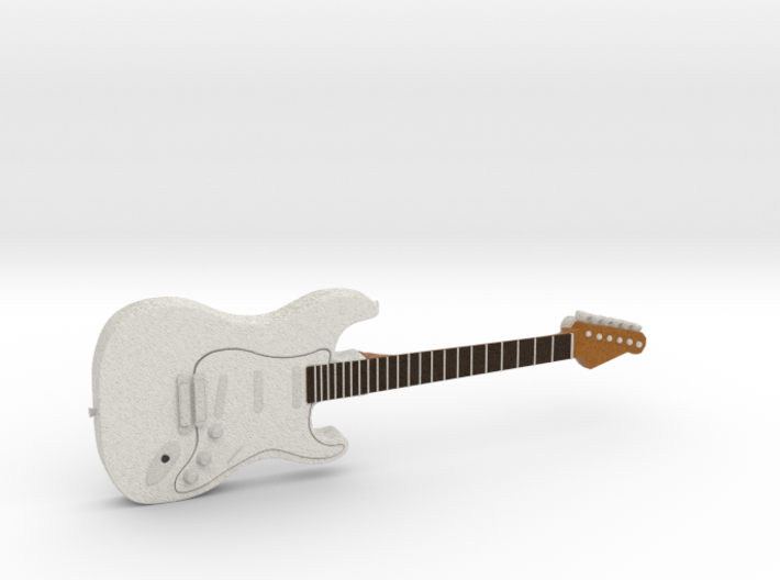 The Jimi Hendrix Experience's Guitar 3d printed