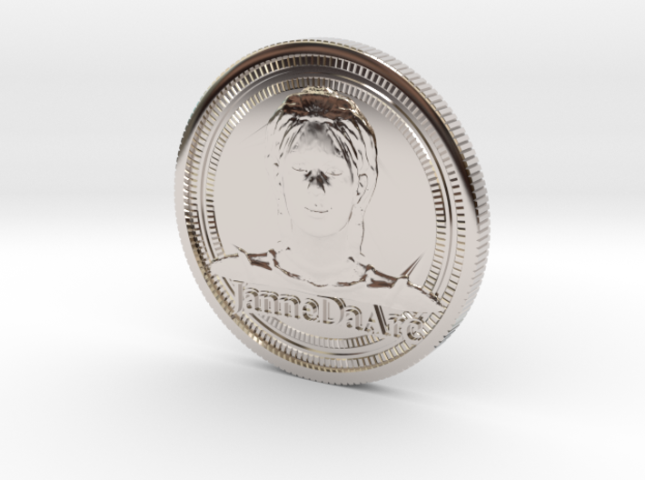 Jehanne Darc coin 3d printed