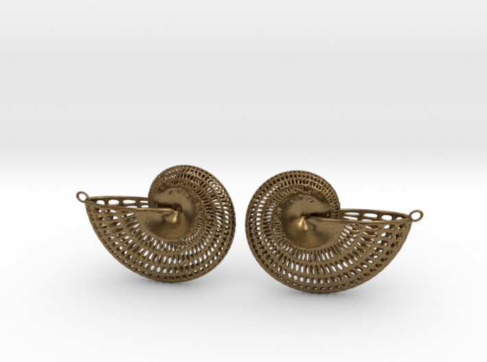 Nautilus Earring Pair (2 earrings) 3d printed