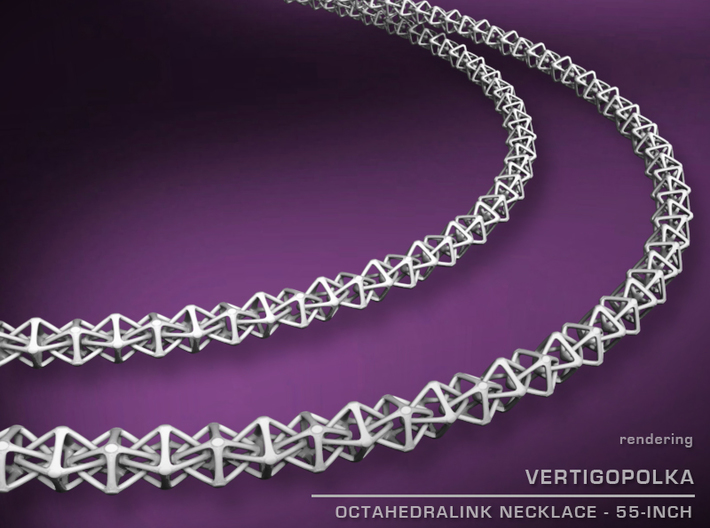 55inch Octahedralink Necklace 3d printed