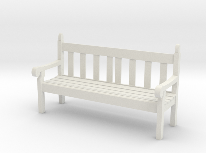 1:32 Scale Hyde Park Bench 3d printed