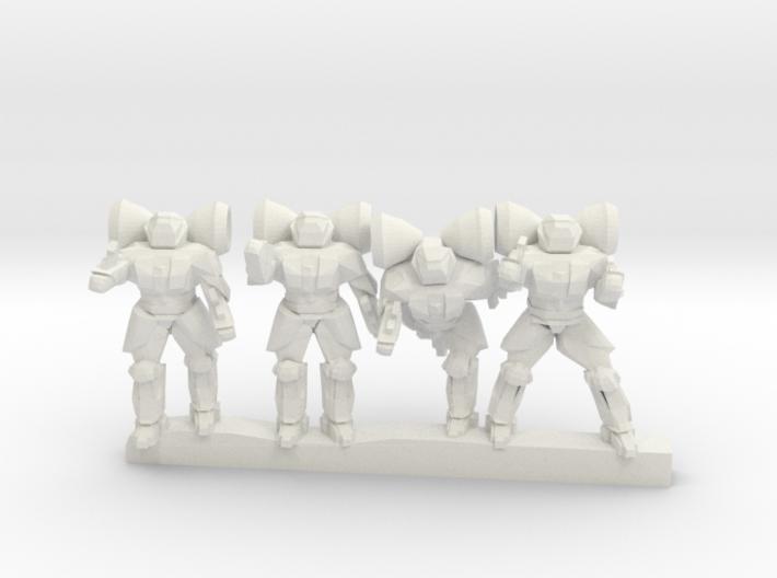 Shield Trooper Power Armor 6mm 3d printed