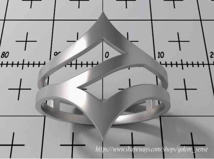 Ring Model C - Size 6 - Silver 3d printed