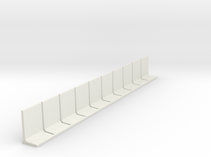 N Scale Retaining Wall 2500mm 10pc 3d printed