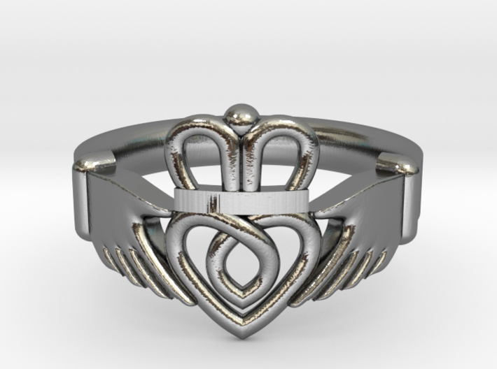 Traditional Claddagh Ring 3d printed