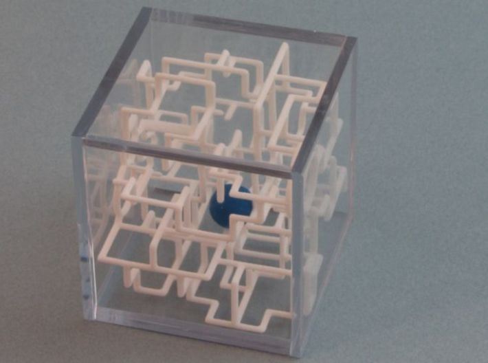 Bare Bones 6-Pack Pirate Maze Puzzle 3d printed Ball is in the interior of the Maze