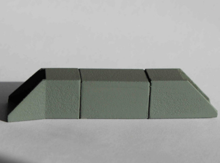 N Single Track Box Culvert Set 2x2m 3d printed Culvert set in White Strong & Flexible, sanded and painted twice.