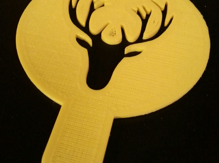 Deer - coffe plate (shape) - decoration 3d printed