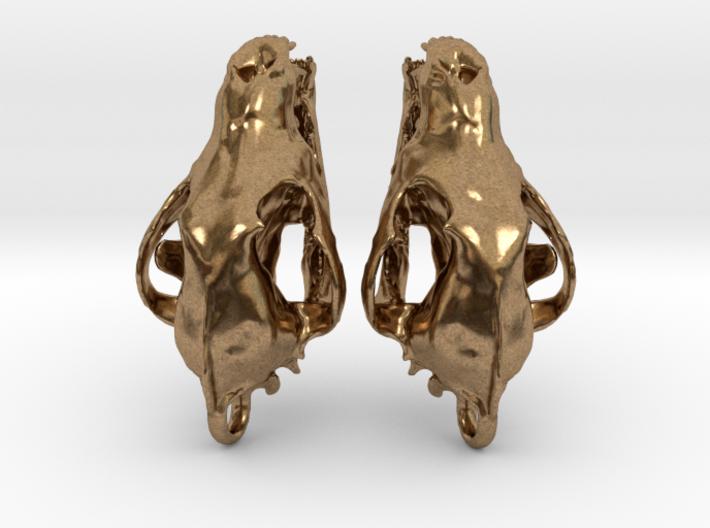 Wolf Skull Earrings 3d printed