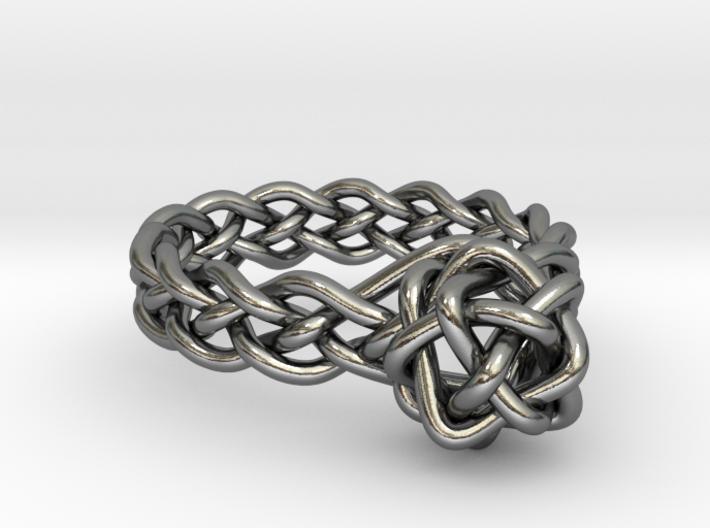 Woven Gem Ring 3d printed