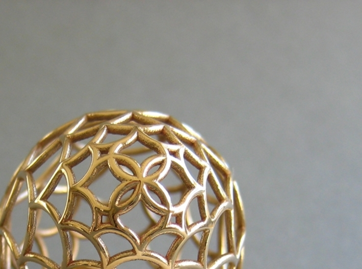 Filigree Egg - 3D Printed in Metal for Easter 3d printed Collectible Easter Egg