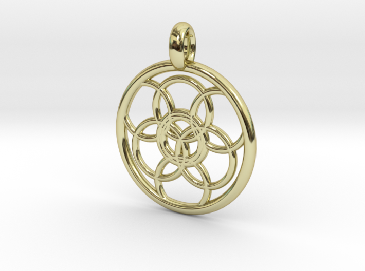 Lysithea pendant 3d printed