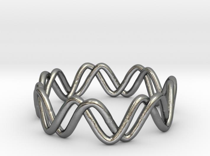 Sine + Cosine Ring (Size 7) 3d printed