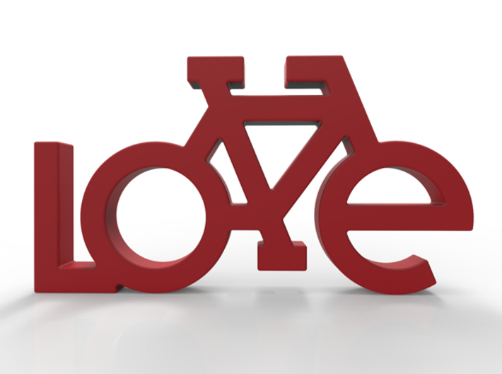 The Bicycle Keychain - LOVE 3d printed Add a caption...
