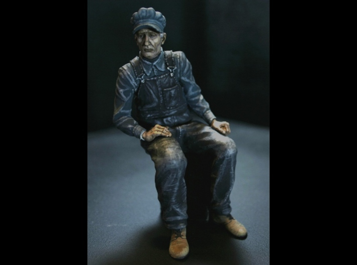 SE Sherman Pippin Sitting 3d printed Painted with Acrylics