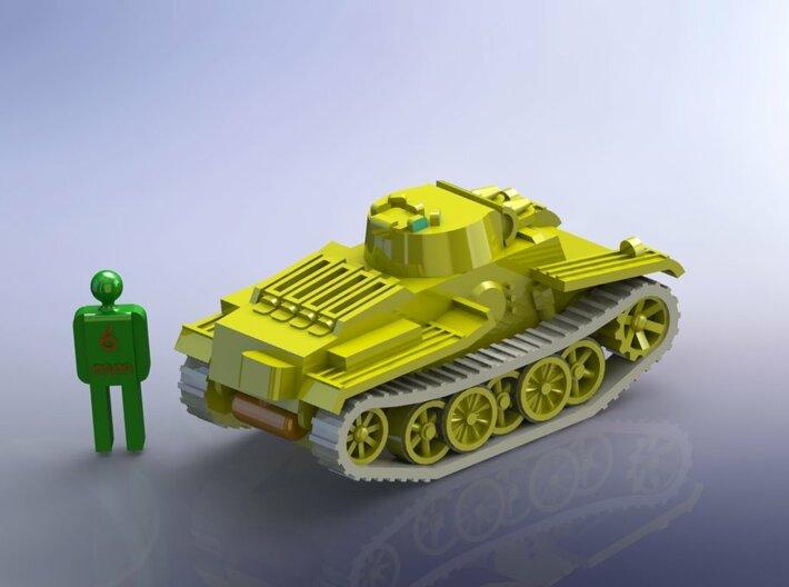 German Tank Panzer I F VK 1801  1/285 6mm  3d printed Add a caption...