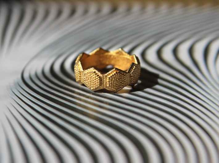 Seeds of life ring 3d printed