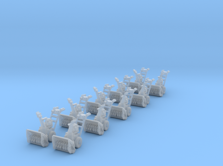 1-87 10xSnowblowers SET 3d printed