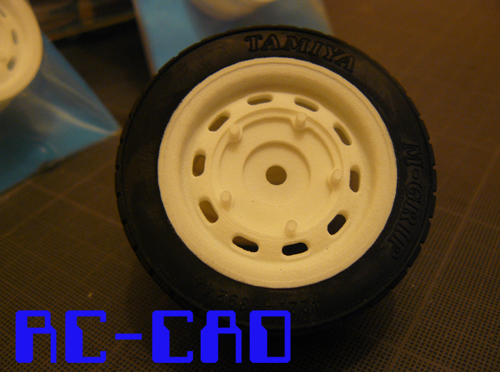 Porsche 356 rims for M-chassis 3d printed With Tamiya 60D tyre (not included)