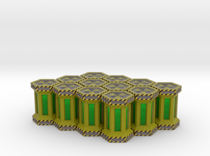 Game Piece, Power Grid, Uranium Canister Type1 x12 3d printed