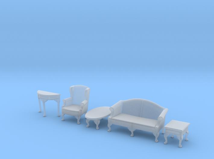 1:48 Queen Anne Living Room Set 3d printed