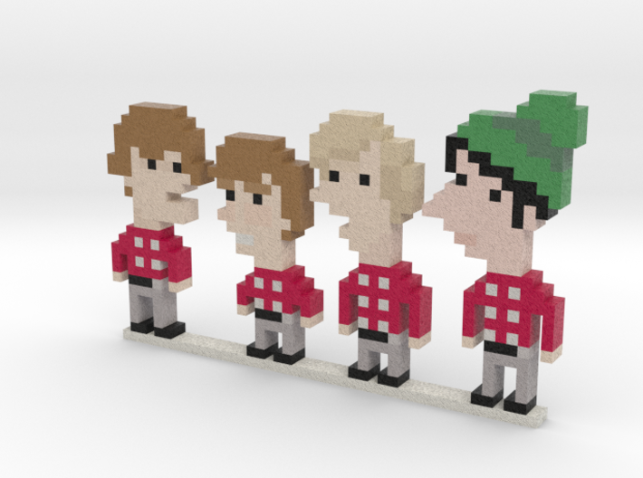 Monkees iotacons 3d printed