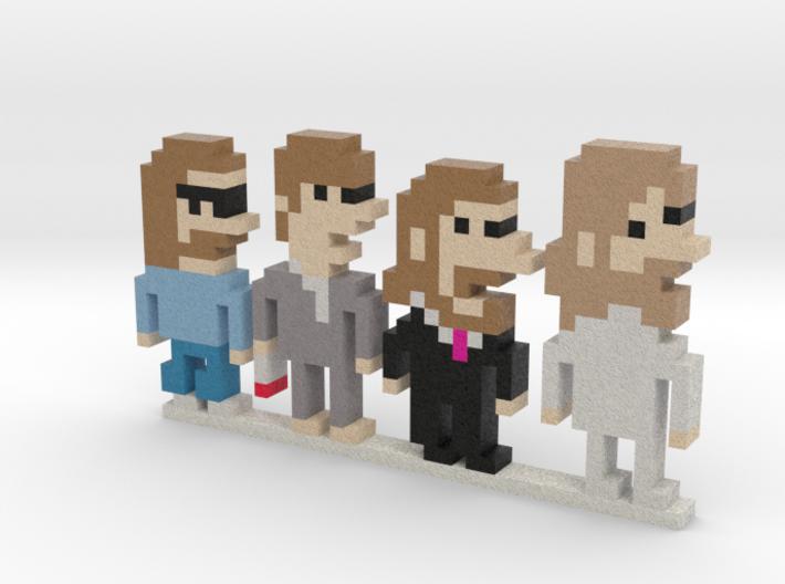 Beatles iotacons (Abbey Road) 3d printed