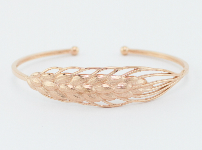 Wheat Bracelet all sizes 3d printed rose gold plated