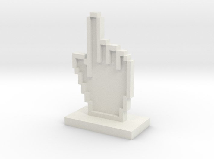 Mouse Hand Icon 3d printed