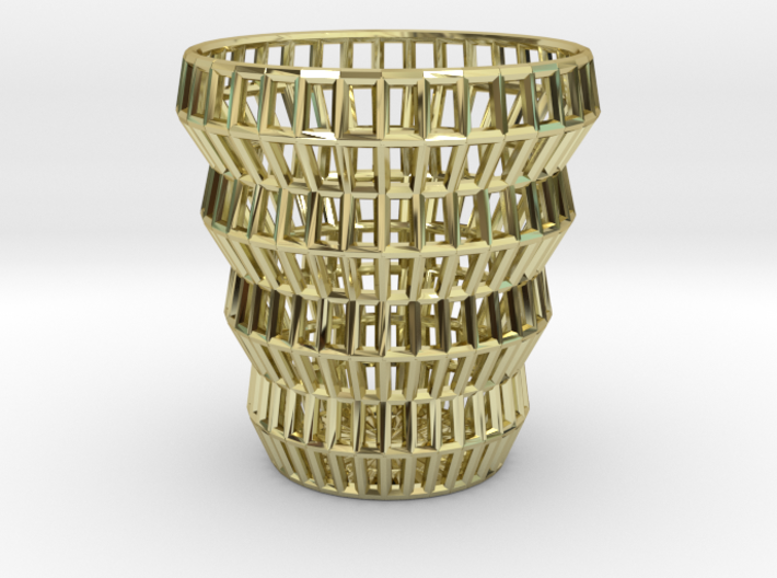 Wireframe Espresso Cup (Shell) 3d printed