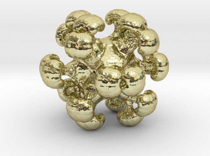 MengerSpore earring / pendant 3d printed
