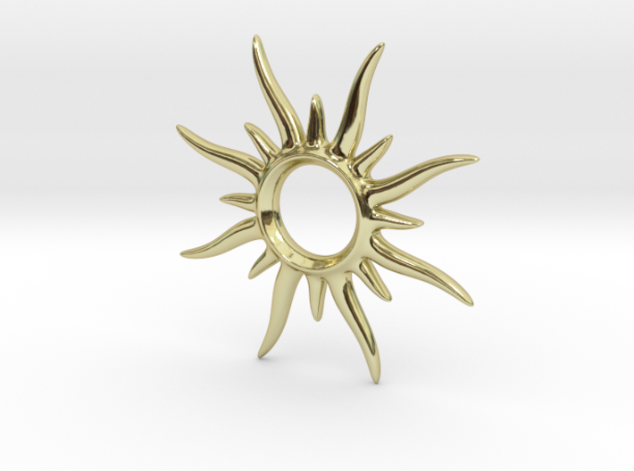 SunSpark Smal 3d printed SunSpark gold plated