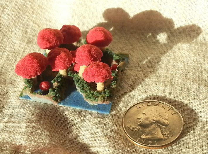 Mushroom Village - Tiny 0.25 mm 3d printed