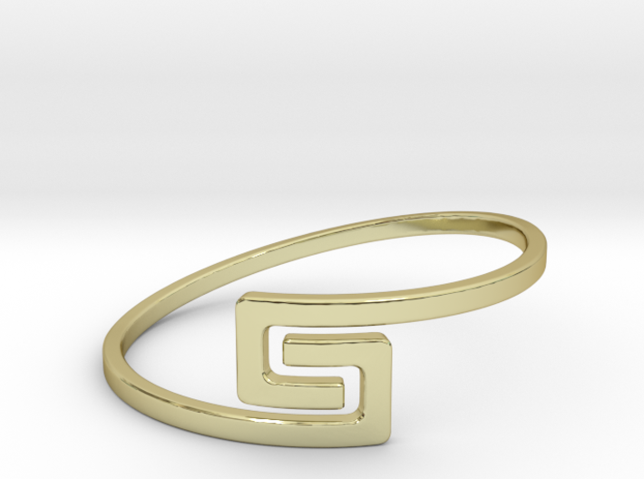 The S Ring Size 6 3d printed