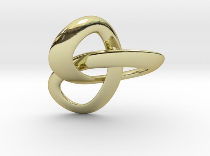 Trioloop pendant 3d printed
