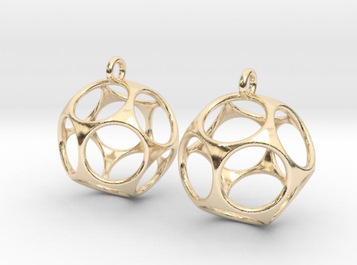 New Dod Earrings 3d printed