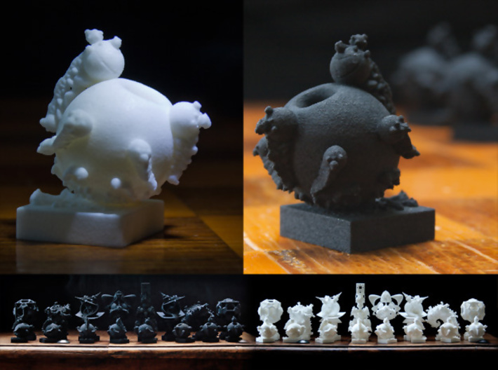 Surreal Chess Set - My Masterpieces - The Pawn 3d printed White and Black Pawns
