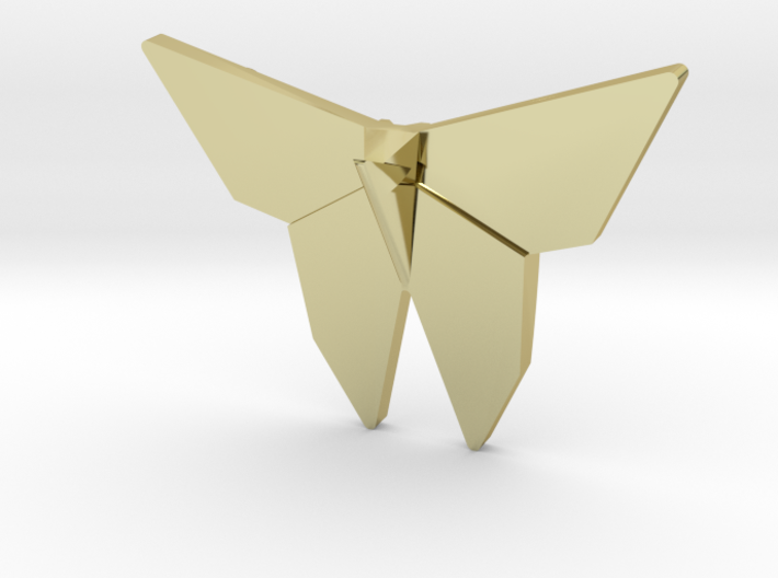 Origami Butterfly Pendant 3d printed