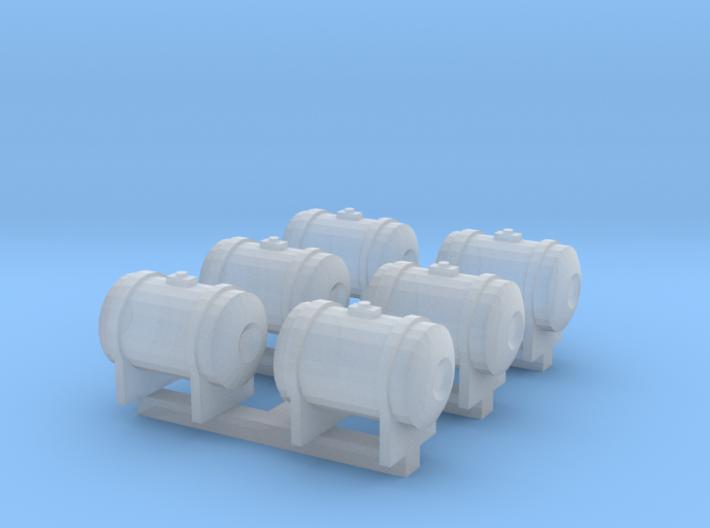1:160 N Scale 60 Gal. Reefer Fuel Tank x6 3d printed