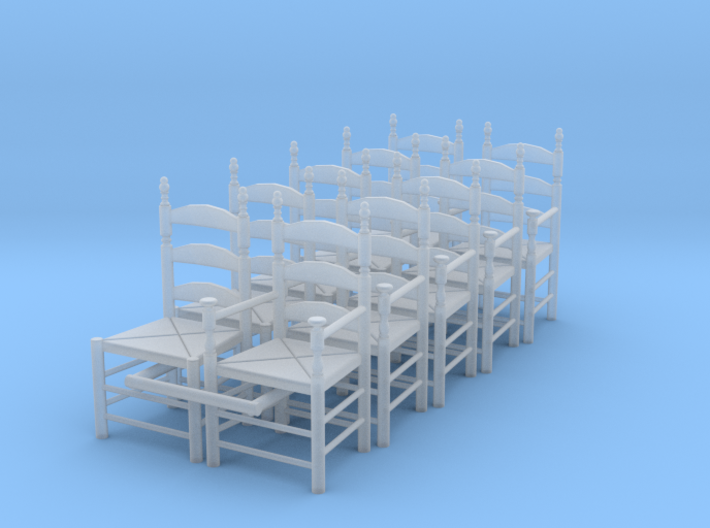 1:48 Pilgrim's Chairs (Set of 10) 3d printed
