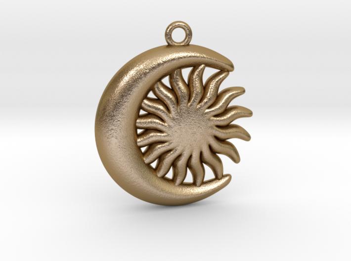 Sun&Moon Pendant L 3d printed