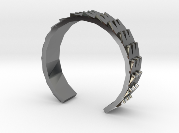 Metal Snake Skin - Sz. 9 3d printed