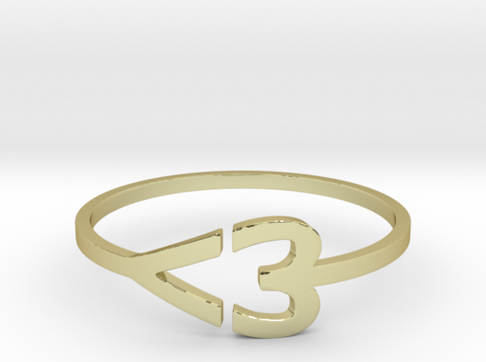 I heart Ring 3d printed